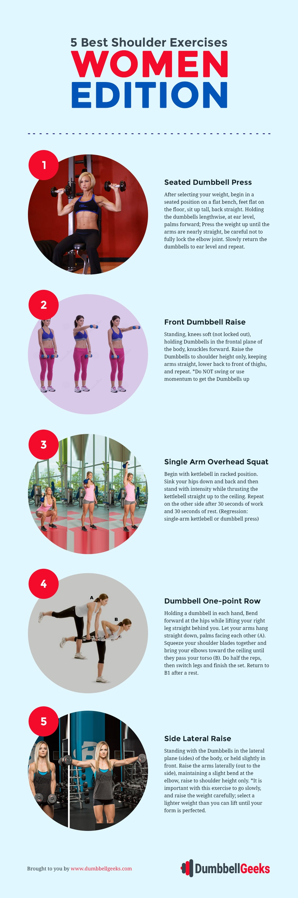 5 Best Shoulder Exercises For Women – Infographic Guide