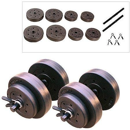 Vinyl Dumbbell Set, 40 Lbs Fit and Toned